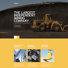 Mining Company Responsive Website Template