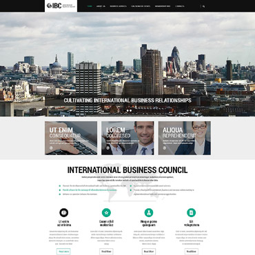 Business Responsive Website Template #55478