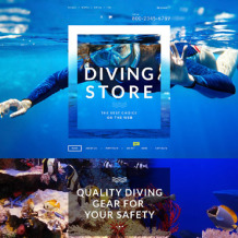 Diving Responsive WooCommerce Theme