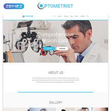 Optometrist's Responsive Website Template