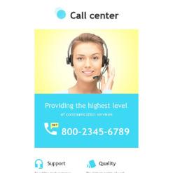 Call Center Responsive Newsletter Template