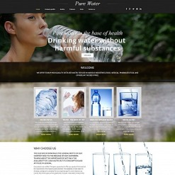 Water Responsive Moto CMS 3 Template