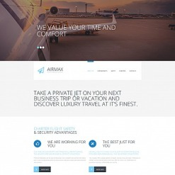 Private Airline Responsive Moto CMS 3 Template
