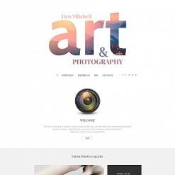 Art & Photography Responsive Moto CMS 3 Template