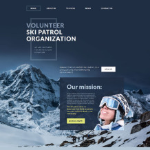 Skiing Responsive Website Template