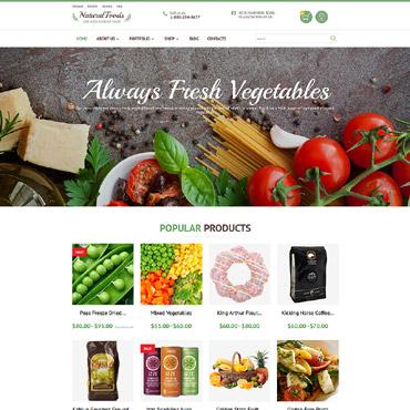 Natural Foods WooCommerce Theme #55738