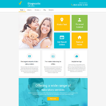 Diagnostic Laboratory WordPress Theme #55766