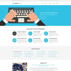 Computer Repair PSD Template