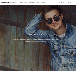 Photographer Portfolio PSD Template