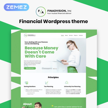 Financial Advisor Responsive WordPress Theme #55970
