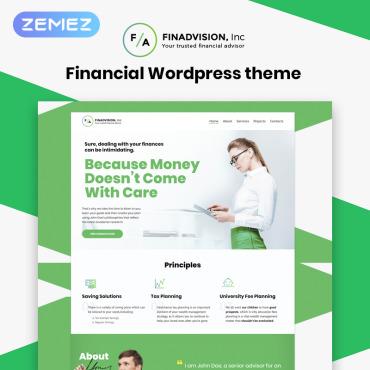 Financial Advisor Responsive WordPress Theme #55970