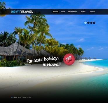 Travel Agency PSD Template