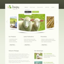 Sheep Farm PSD Template