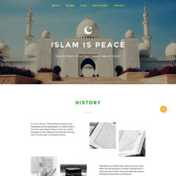 Islam Responsive Landing Page Template