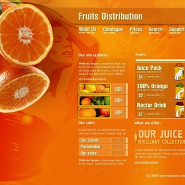 Fruit Flash Template