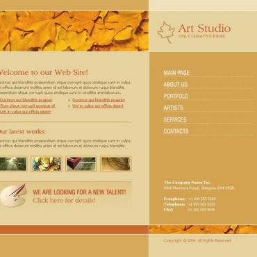 Art Studio Website Template