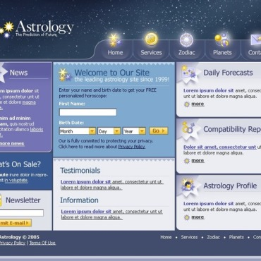 Astrology Website Template