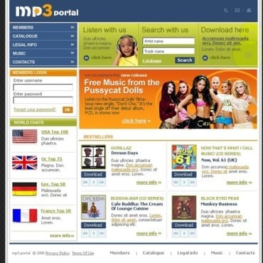 MP3 Store Website Template